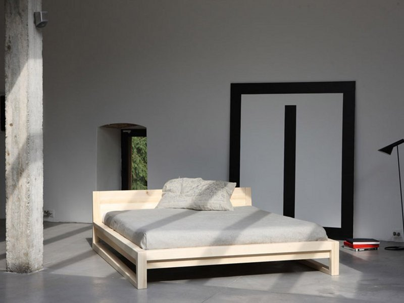 Wooden double bed BASIC | Bed by Artisan