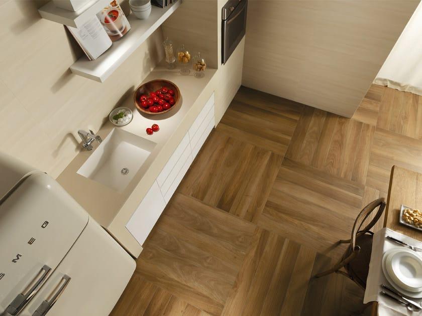 Porcelain stoneware flooring with wood effect NUANCES | Flooring by FAP ceramiche