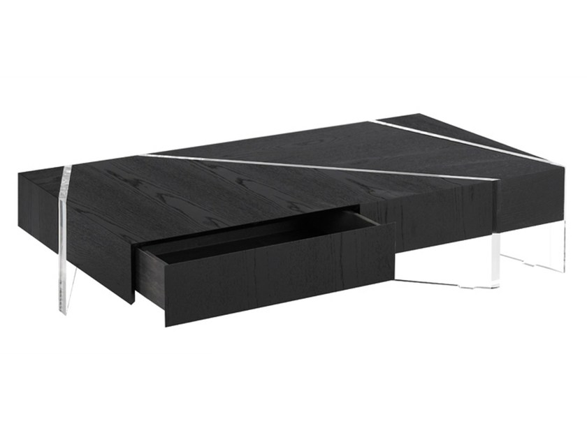 Low rectangular coffee table KRISTAL by La Maison Turrini