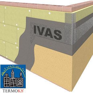 Exterior insulation system TermoK8® MINERALE L.R. by Ivas Vernici