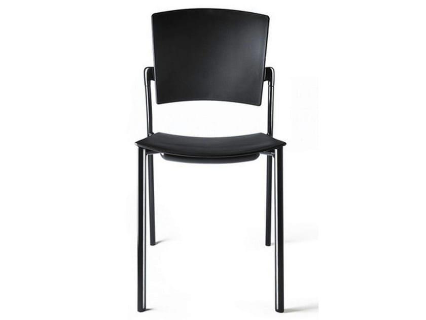 Stackable polypropylene chair EINA   Stackable chair by ENEA