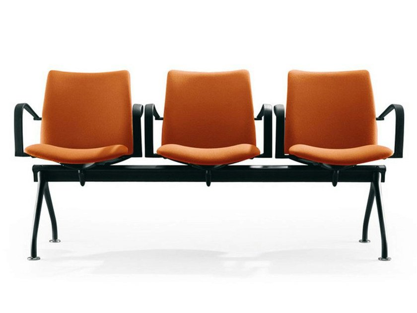 Beam seating with armrests GLOBAL | Beam seating by ENEA