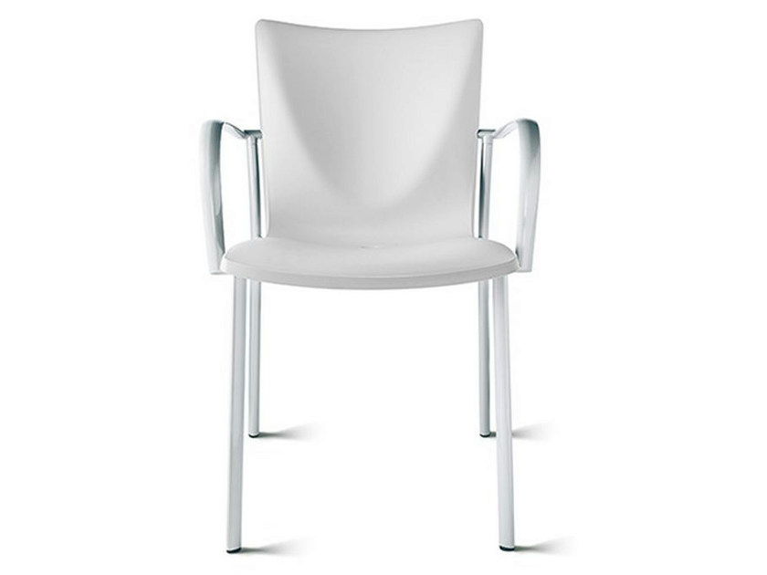 Polypropylene chair with armrests TALK | Chair with armrests by ENEA