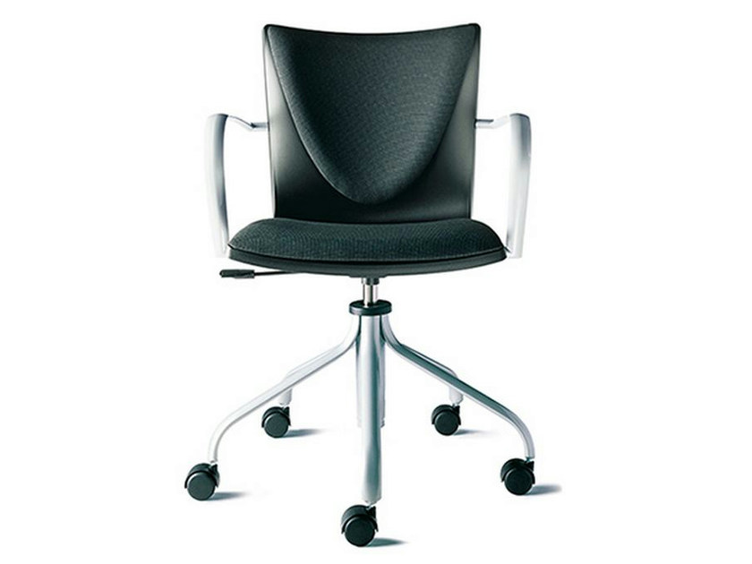 Task chair with 5-Spoke base with armrests TALK | Task chair with armrests by ENEA