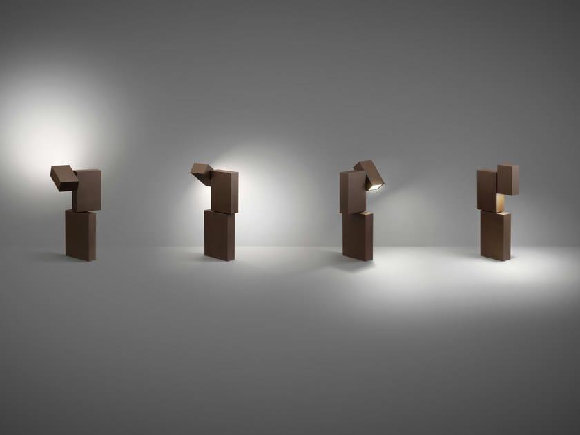 Paletto luminoso in metallo BOXES by Vibia