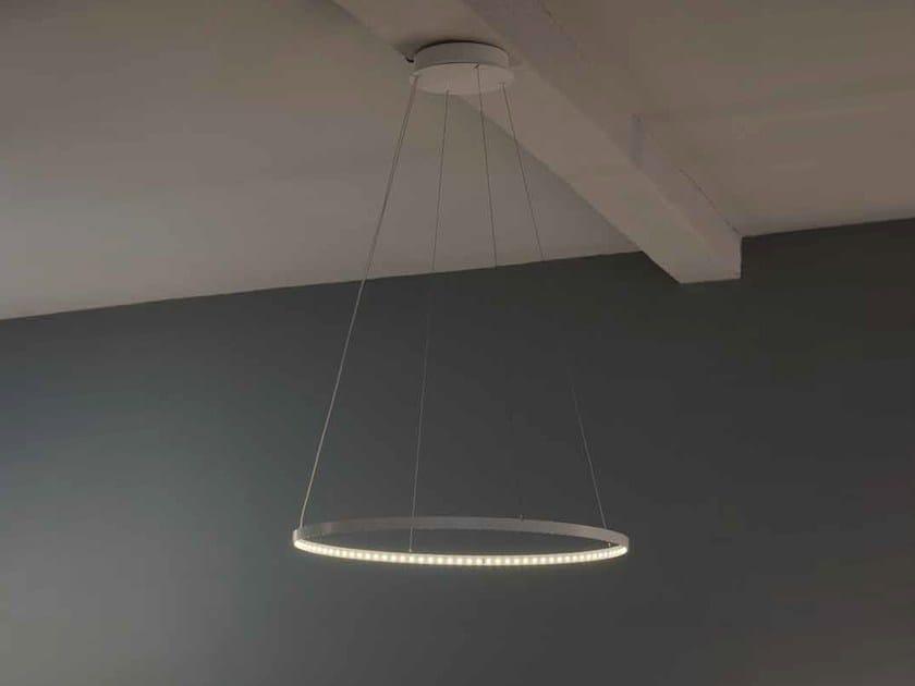 LED direct-indirect light pendant lamp CIRCLE 30 by Le Deun Luminaires
