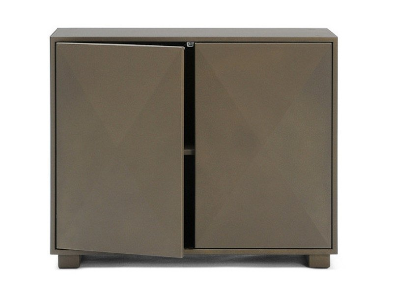 Metal office storage unit with hinged doors DIAMANT | Office storage unit by Tolix