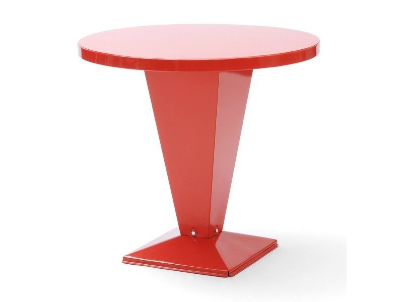 Round metal table KUB   Round table by Tolix