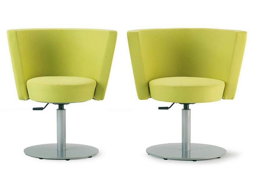 Swivel upholstered easy chair KONIC by ENEA