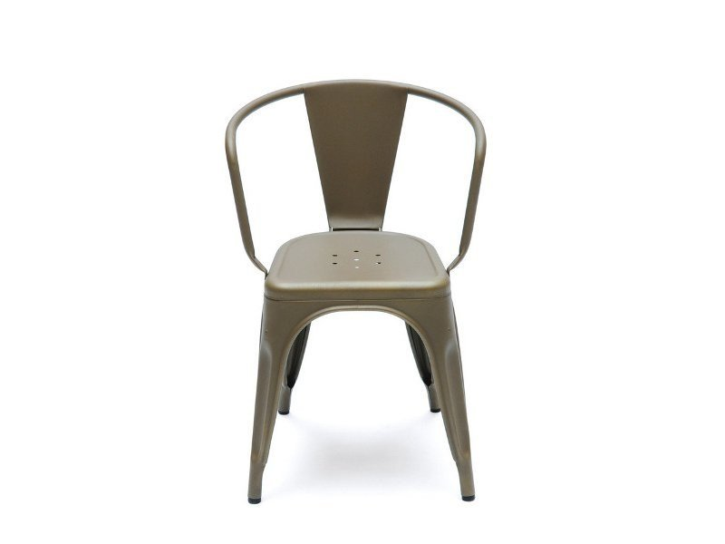 Metal chair with armrests A56   Metal chair by Tolix