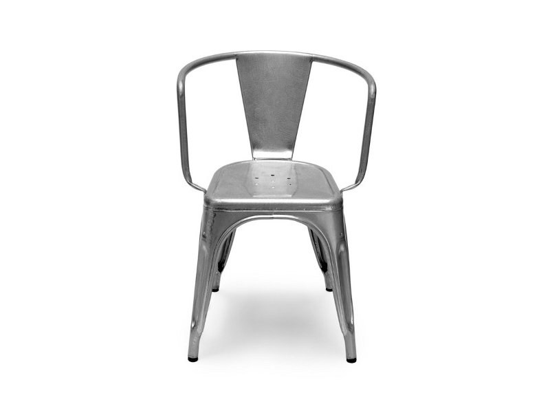 Metal chair with armrests A97 | Metal chair by Tolix
