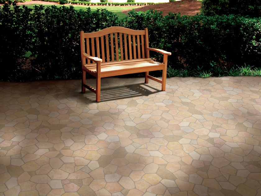 Porcelain stoneware outdoor floor tiles ÁGORA by REALONDA