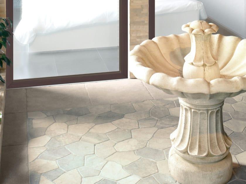 Porcelain stoneware outdoor floor tiles ESPARGOS by REALONDA