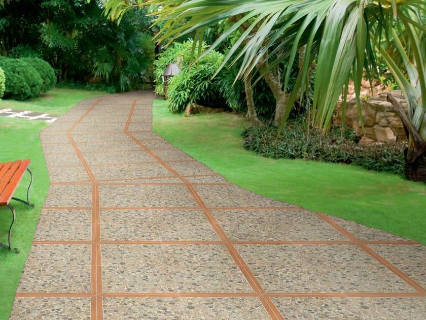Porcelain stoneware outdoor floor tiles TARBES by REALONDA
