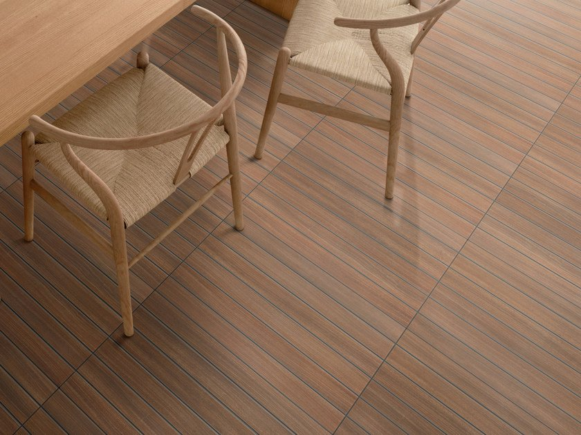 Porcelain stoneware wall/floor tiles with wood effect STRIP WOOD by REALONDA