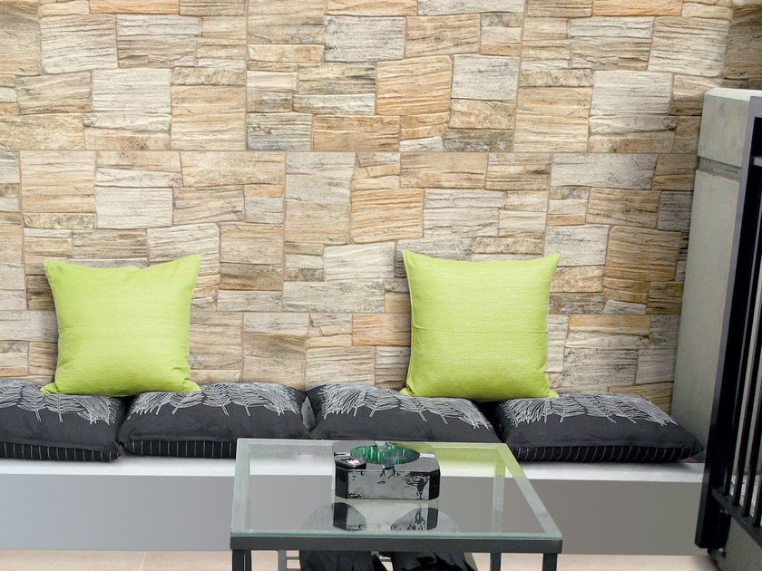 Porcelain stoneware wall tiles with stone effect TRIPOLI by REALONDA