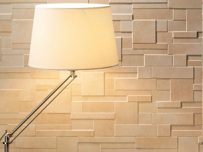 Porcelain stoneware 3D Wall Tile MIX STONE by REALONDA