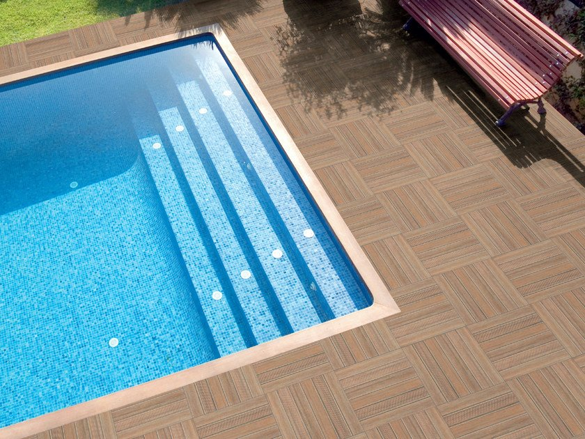 Porcelain stoneware outdoor floor tiles NEW TEK - POOL by REALONDA