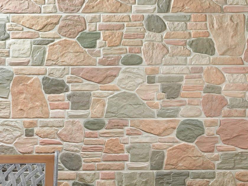 Rivestimento in gres porcellanato effetto pietra per esterni stone