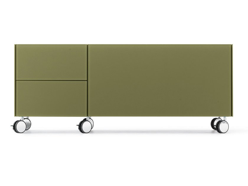Office drawer unit with casters AIR WHEEL by Gallotti&Radice