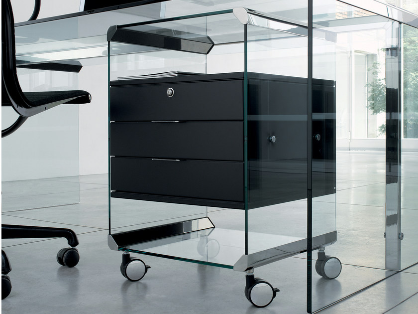 Office drawer unit with casters MOVIE by Gallotti&Radice