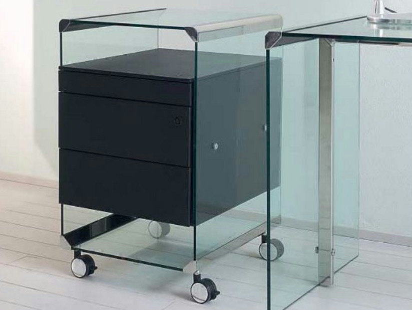 Office drawer unit with casters MOVIE METAL by Gallotti&Radice