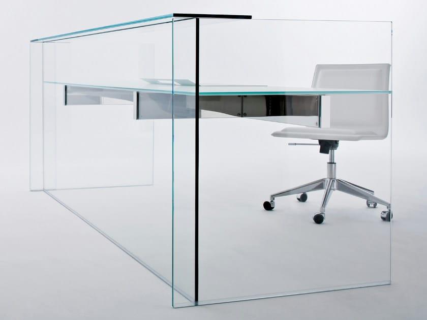 Crystal writing desk AIR DESK HALL by Gallotti&Radice