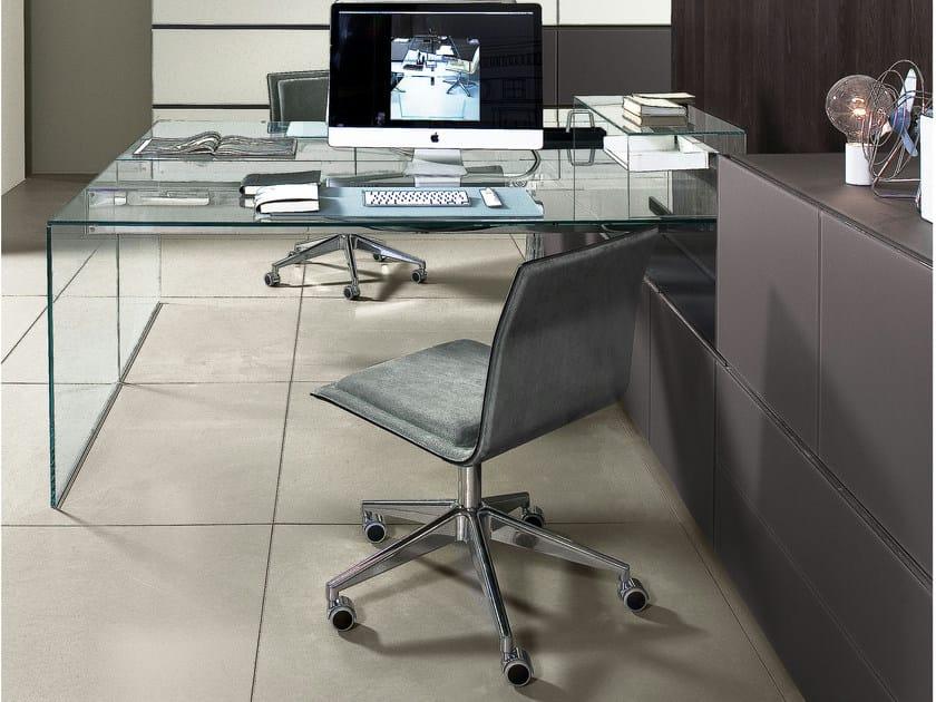 Crystal writing desk AIR DESK 1 UP by Gallotti&Radice