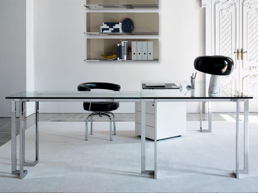 Crystal writing desk LORD L by Gallotti&Radice