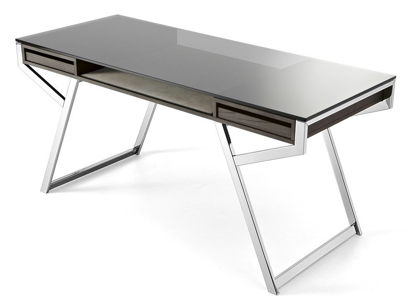 Crystal writing desk with drawers LUÌ by Gallotti&Radice