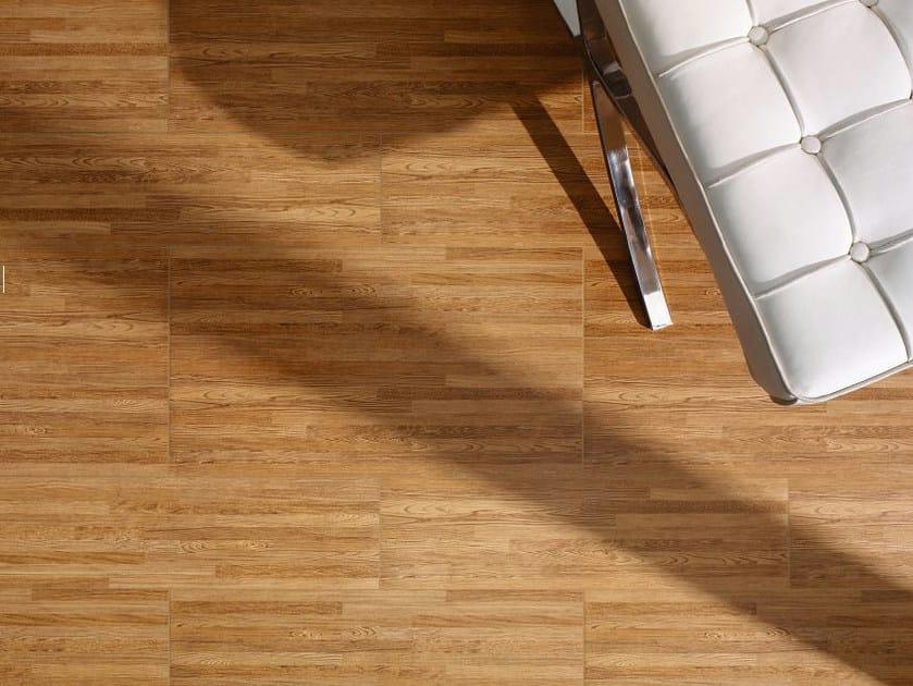 Porcelain stoneware flooring with wood effect TIROL by REALONDA