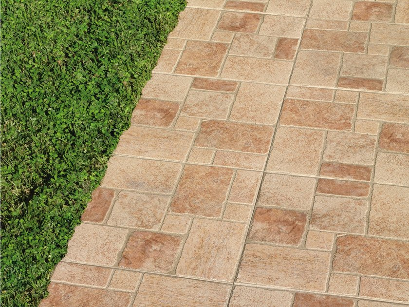 Porcelain stoneware outdoor floor tiles CIEZA by REALONDA