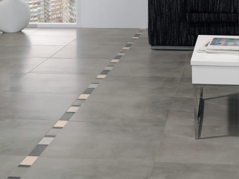 Indoor/outdoor porcelain stoneware flooring CONCRETE by REALONDA