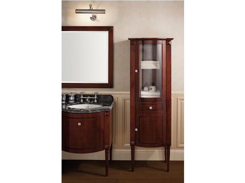 Classic style wooden bathroom cabinet with doors CHESTER | Étagère by GENTRY HOME