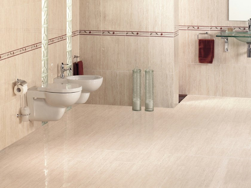 Red-paste flooring TRAVERTINO by REALONDA