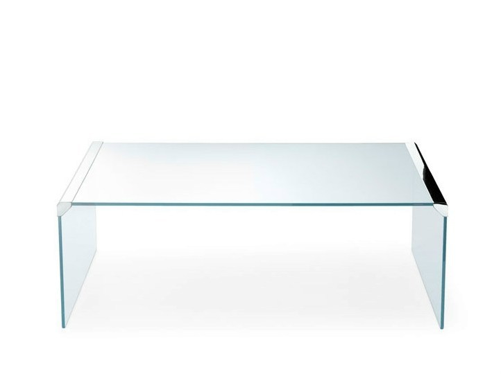 Low crystal coffee table T 33 | Rectangular coffee table by Gallotti&Radice