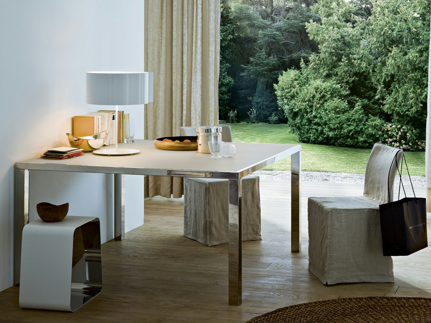 Square stainless steel table SMART by Gallotti&Radice