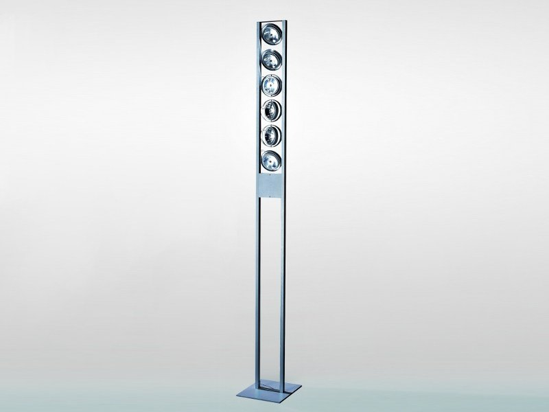 Adjustable aluminium floor lamp STRUTTURA | Floor lamp by LUCIFERO'S