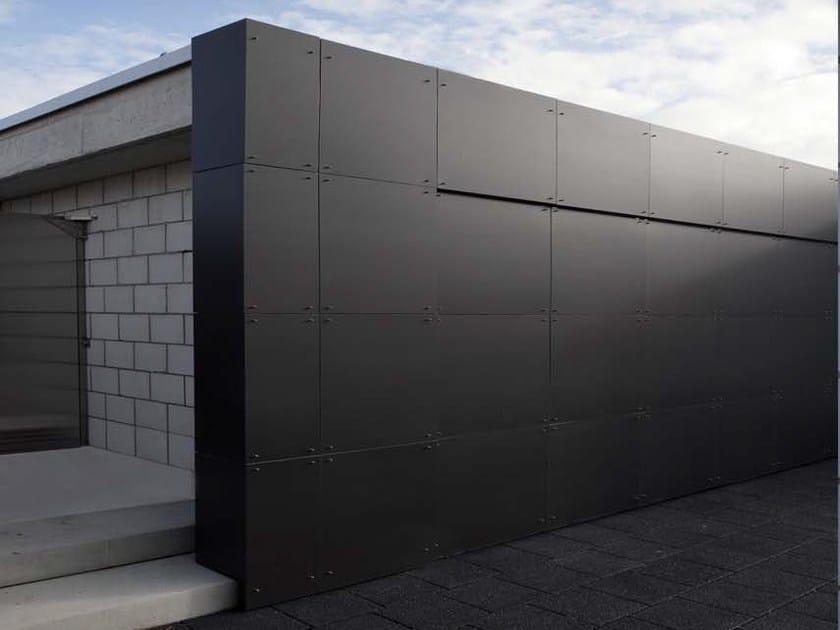 Ventilated facade COMPOSITE by UMICORE VMZINC