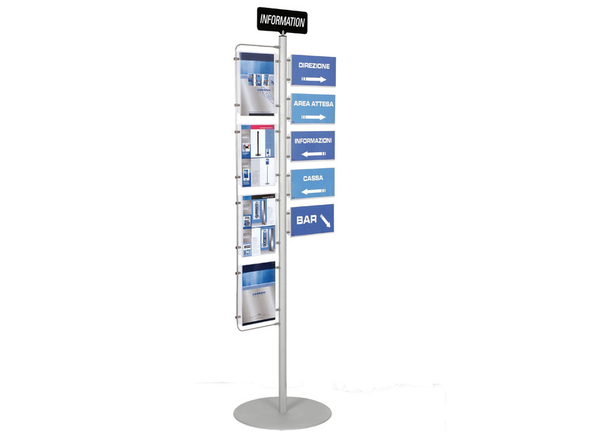 Double-sided column display stand INFO-POINT by GEPROM design