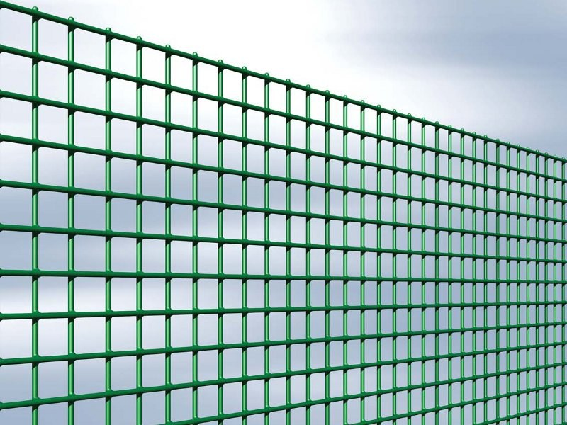 Plasticized electrically welded mesh Fence ESAPLAX 4×4 by Gruppo CAVATORTA