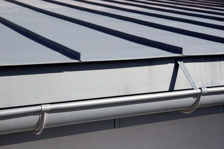 Gutter and downpipe Gutter and downpipe by UMICORE VMZINC