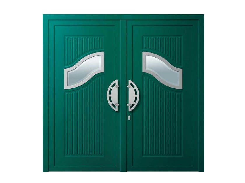 Glass and aluminium door panel ONDA by ROYAL PAT