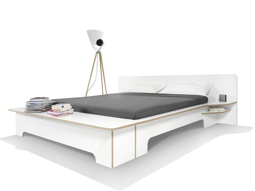 Plywood double bed PLANE | Double bed by Müller Möbelwerkstätten