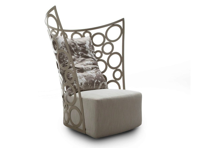 Upholstered armchair with headrest ICONA by ERBA ITALIA