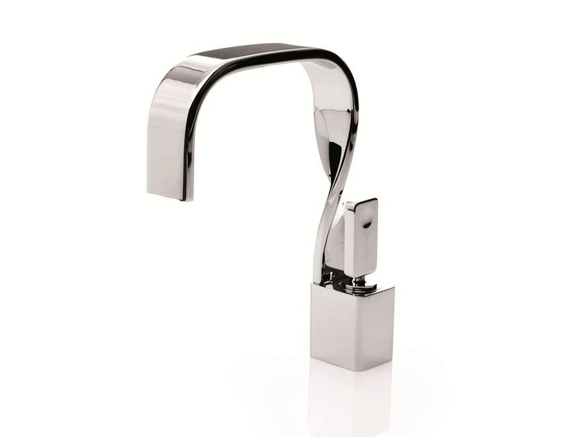 Chrome-plated washbasin mixer NASTRO | Single handle washbasin mixer by RITMONIO