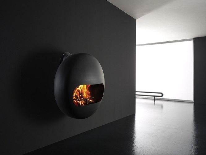 Carbon steel fireplace BUBBLE | Wood-burning fireplace by ANTRAX