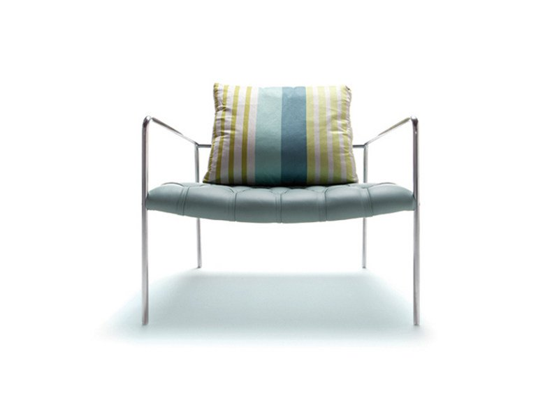 Upholstered armchair with armrests ABBEY ROAD by ERBA ITALIA