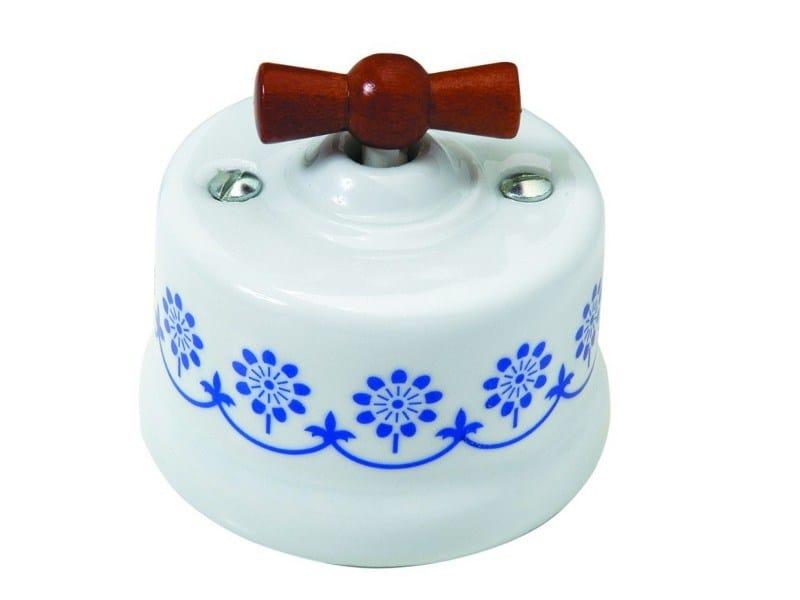 GARBY Garby blue decor honey wood knob