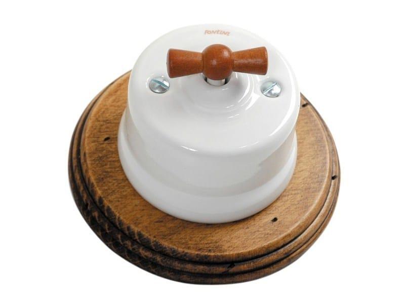 GARBY Garby porcelain honey wood knob - old wood frame